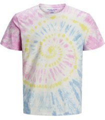 jack & jones men's tie dye tee shirt