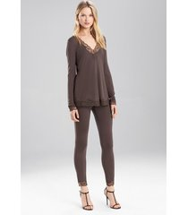 undercover top pajamas, women's, grey, size s, josie natori
