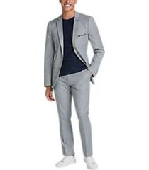 paisley & gray slim fit suit separates coat teal check