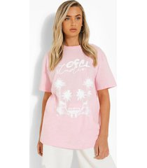 oversized t-shirt met opdruk, light pink