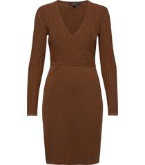 dresses flat knitted knälång klänning brun esprit collection
