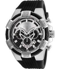 reloj invicta negro modelo 246nh para hombres, colección bolt