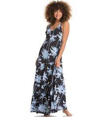 vestido negro-azul-blanco maaji swimwear boreal wishes hula