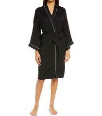 women's nordstrom moonlight robe, size small - black