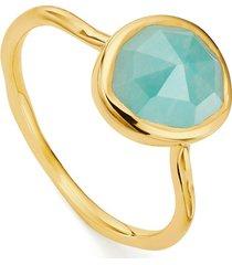 gold siren stacking ring amazonite