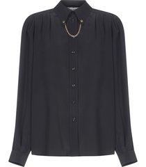 givenchy chain-detail silk shirt