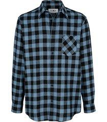 skjorta roger kent rökblå::svart