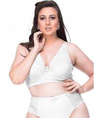 suti㣠sempre sensual lingerie vintage branco - branco - feminino - dafiti