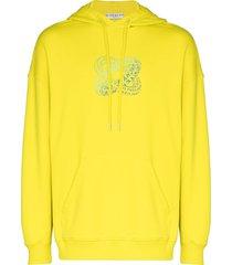 givenchy infinity logo-print hoodie - yellow