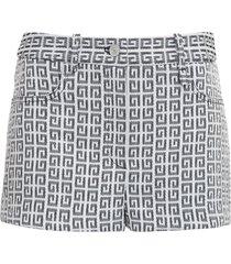 givenchy denim shorts with logo