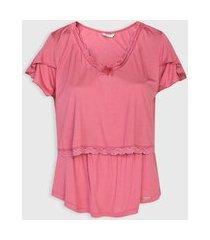 camiseta love secret amamentação rosa