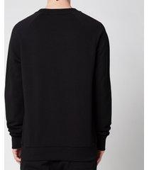 balmain men's bi colour flock sweatshirt - black - xxl