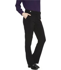 pantalon formal pierna recta negro lorenzo di pontti