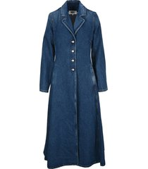 mm6 redingot denim coat