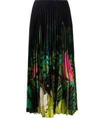 valentino mirrored monkeys forest pleated skirt - blue