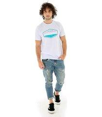 camiseta manga corta playa