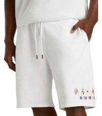 guess men's summer games flag shorts