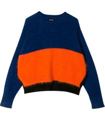 diesel sweater with color-block design