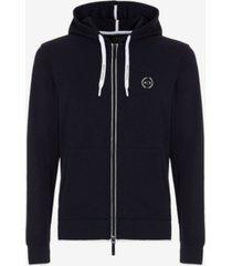 a x armani exchange men's classic logo drawstring hoodie