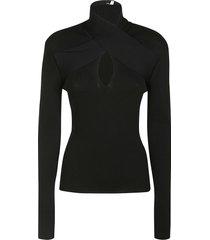 msgm centre cut-out slim sweater