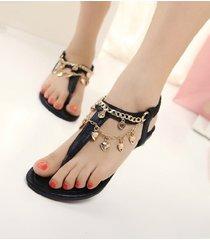 sandali infradito con cavigliere a cuore