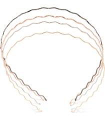 france luxe multi-tone 4-pc. set wave headbands