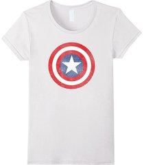 marvel captain america classic shield graphic t-shirt women
