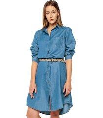 vestido azul denim arkitect éxito