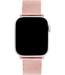 rebecca minkoff milanese mesh apple watch(r) bracelet in rose gold at nordstrom