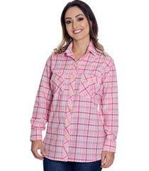 camisão pimenta rosada xadrez antonella