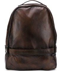 eleventy zip-up backpack - brown