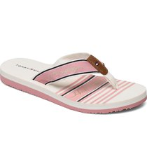 tommy signature beach sandal shoes summer shoes flat sandals rosa tommy hilfiger