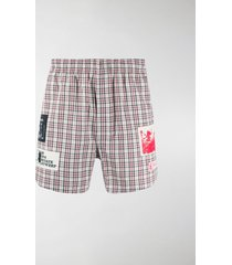 raf simons graphic patch shorts