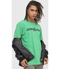 camiseta john john basic verde - verde - masculino - algodã£o - dafiti
