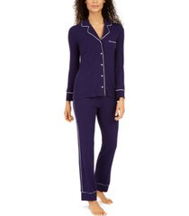 alfani women's ribbed pajama set, created for macy's