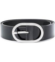 diesel oval buckle belt - black