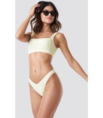 na-kd swimwear v shape bikini bottom - white