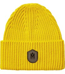 women's mackage knit wool blend beanie - yellow