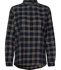 lux shirt overhemd met lange mouwen bruin lollys laundry