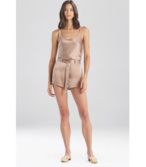 natori key silk shorts, women's, 100% silk, size l