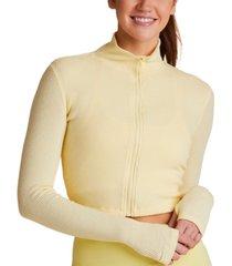 alala rise cropped ribbed sweatshirt