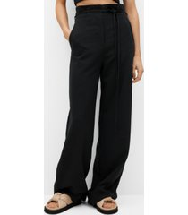 high-waist straight pants