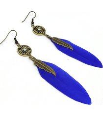 orecchini pendenti vintage orecchini pendenti in piuma d'epoca in rame antico leavf per donna