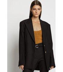 proenza schouler slub suiting blazer 00200 black 6