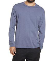 men's bp. long sleeve crewneck t-shirt, size x-small - grey