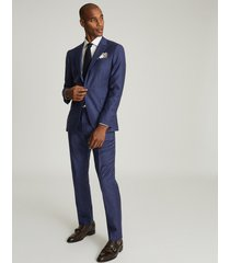 reiss christopher - wool slim fit blazer in electric blue, mens, size 46