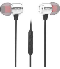 audífonos bluetooth, awei s10hi auricular intra-auricular 3.5mm sonido estéreo con control de volumen de micrófono (plata)