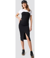 na-kd party cup tube dress - black