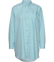 norkko pikku ruutu overhemd met lange mouwen blauw marimekko
