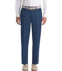 lauren by ralph lauren men's classic fit linen suit separates pants navy - size: 34w x 30l